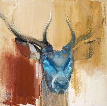 Mask (young stag), 2014, Canvas Print