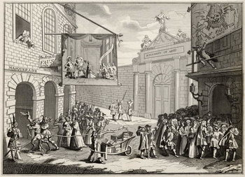 Masquerades and Operas, Burlington Gate, from 'The Works of Hogarth', published 1833 Canvas Print
