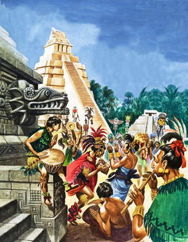 Mayan Cities Canvas Print