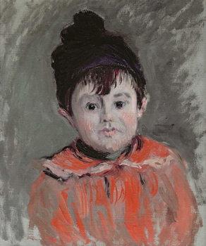 Michel Monet (1878-1966) Wearing a Bobble Hat, 1880 Canvas Print