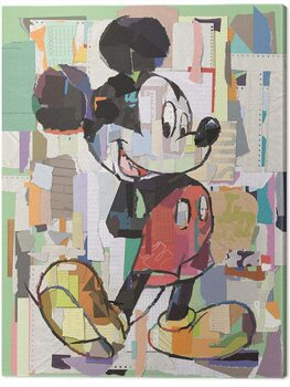 Canvas Print Mickey Mouse - Office Decoupage