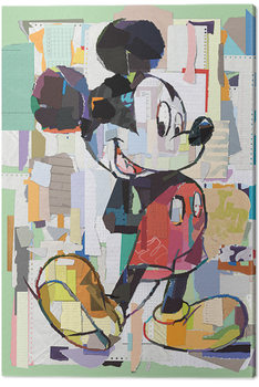 Mickey Mouse - Office Decoupage Canvas Print