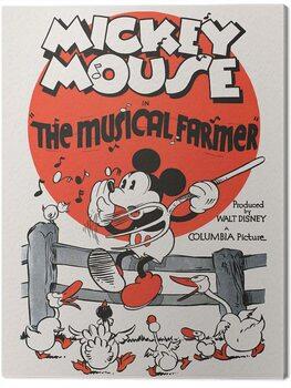 Canvas Print Mickey Mouse - The Musical Farmer