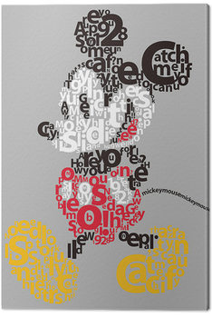 Canvas Print Mickey Mouse - Type