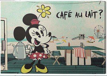 Canvas Print Mickey Shorts - Café Au Lait?