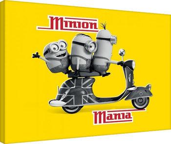 Mimoni (Já, padouch) - Minion Mania Yellow Canvas Print