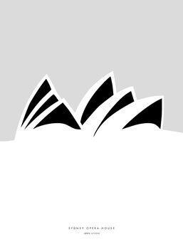 Canvas Print Minimal Sydney Opera House illustration
