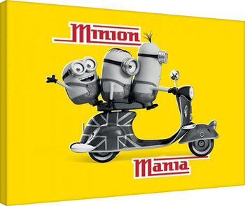Minions - Minion Mania Yellow Canvas Print