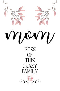 Canvas Print MOM Boss of this crazy family