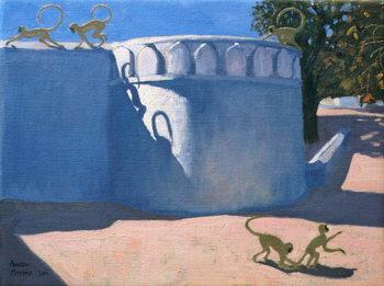 Monkey Temple, India, 2000 Canvas Print