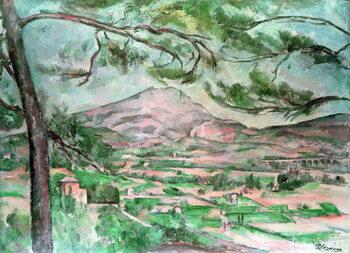 Canvas Print Montagne Sainte-Victoire with Large Pine