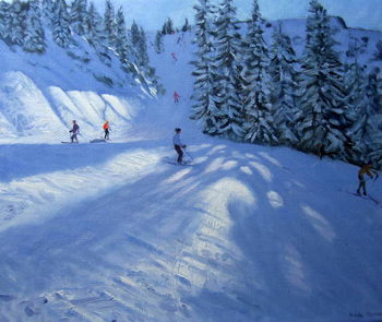 Morzine, ski run Canvas Print