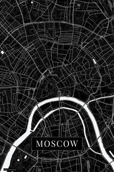 Canvas Print Moscow black