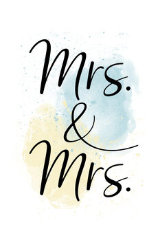 Canvas Print Mrs. & Mrs.