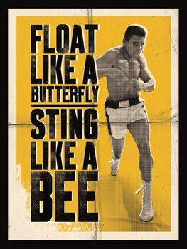 Canvas Print Muhammad Ali - Float Like a Butterfly