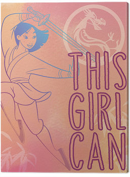 Canvas Print Mulan - This Girl Can