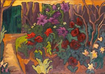 Canvas Print Mum's Garden, 2003