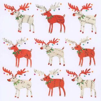Nine Document Reindeer Canvas Print