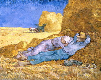 Noon, or The Siesta, after Millet, 1890 Canvas Print