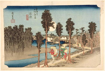 Numazu - Twilight, from the series, '53 Stations on the Eastern Coast Road', 1833 Canvas Print