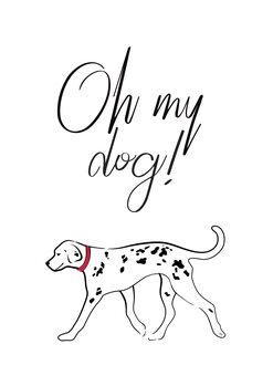 Canvas Print Oh my dog