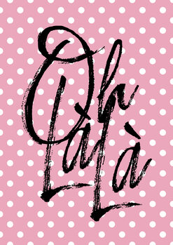 Canvas Print Ohlala pink