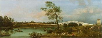 Old Walton's Bridge, 1755 Canvas Print