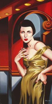 Olive Satin Dress Canvas Print