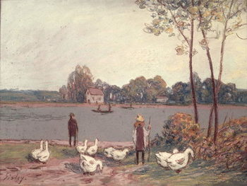 On the Banks of the Loing Canvas Print