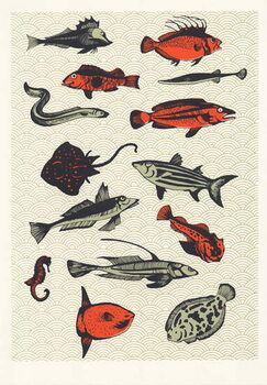 Orange Japanese Fish, 2015 Canvas Print