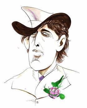 Oscar Wilde - caricature of Irish writer Canvas Print