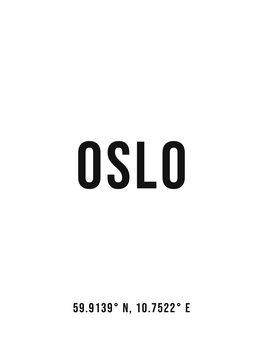 Canvas Print Oslo simple coordinates