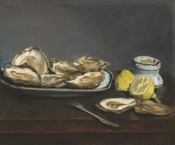 Oysters, 1862 Canvas Print
