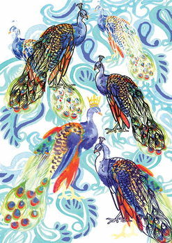 Paisley Peacock, 2013 Canvas Print