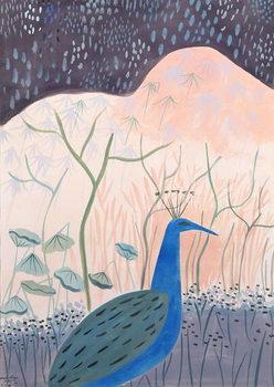 Paon Or et Argent, 1985 Canvas Print