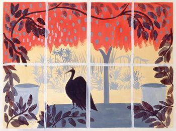 Paon sur la Table, 1985 Canvas Print