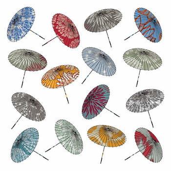 Parasols, 2012 Canvas Print