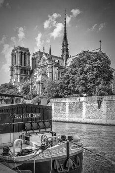 Canvas Print PARIS Cathedral Notre-Dame | monochrome