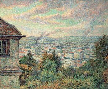 Paris, View of Montmartre Canvas Print