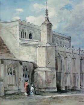 Canvas Print Part of the Exterior of East Bergholt Church