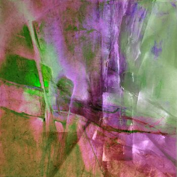Canvas Print Pas de deux - green and purple