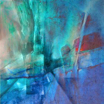 Canvas Print Pas de deux - red and turquoise