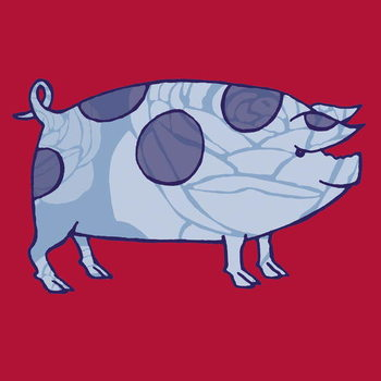 Piddle Valley Pig, 2005 Canvas Print