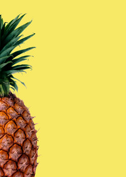 Pinapple yellow Canvas Print