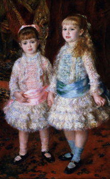 Pink and Blue or, The Cahen d'Anvers Girls, 1881 Canvas Print