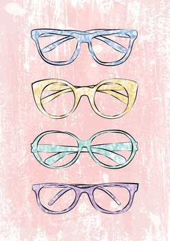 Pink Glasses Canvas Print