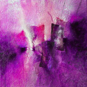 Canvas Print pink tidal rhythms