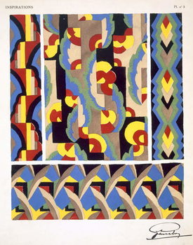 Plate 3, from 'Inspirations', published Paris, 1930s Canvas Print