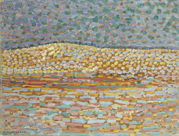 Pointillist Dune Study, Crest at Left, 1909 Canvas Print