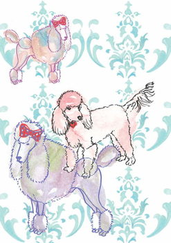 Poodles, 2013 Canvas Print